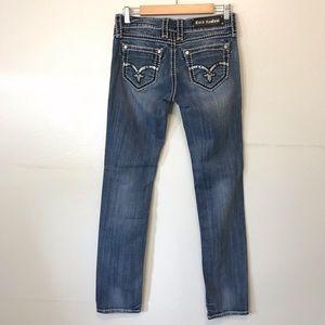 Rock Revival Denisa Straight Blue Jeans 28 x 32